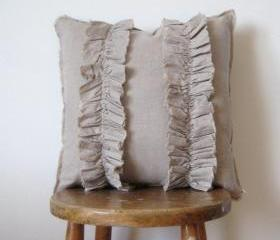 Two Line Cloth Flower Pillow