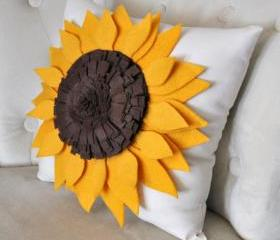 Yellow Sunflower Pillow