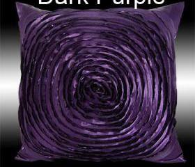 Dark Purple Daisy Flower Pillow