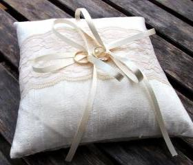 Lace Flower Wedding Pillow