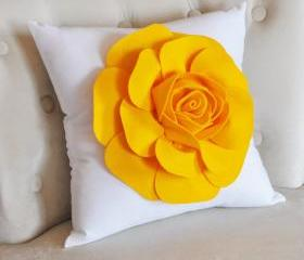 Fresh Yellow Flower Pillow
