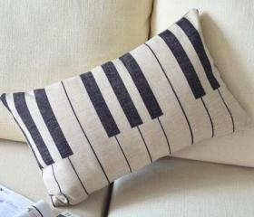 Cute Piano Key Pillow