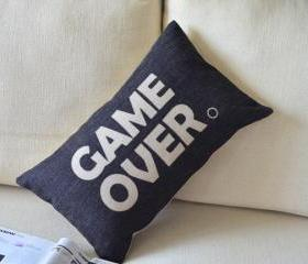 Game Over Linen Cusion Pillow