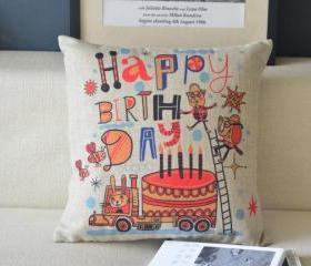 Happy Brithday Gift Pillow