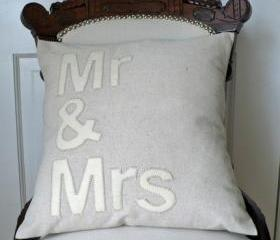 Mr.&Mrs. Canvas Pillow