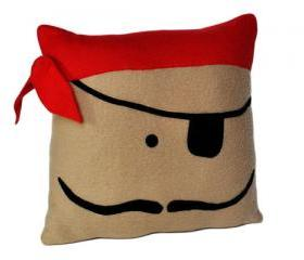 Pirate Painting Pillow