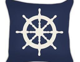 Sea Rover Rudder Painting Pillow