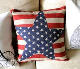 Creative Star Linen Pillow
