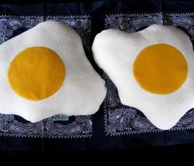 Fried Egg Pattern Pillow