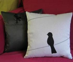 Lonely Kid Bird Pillow